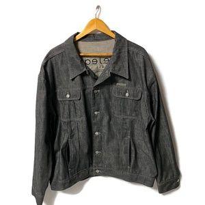 ICEBERG Glossy Black Jean Jacket XL